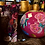 Thumbnail: Glass handpainted large vase with small mouth