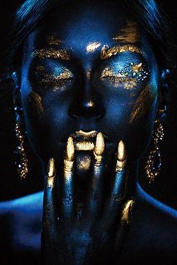 Glasschilderij Night woman