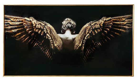 Gold Angel glasspainting