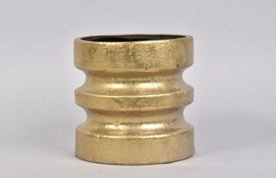 Vase Gold Wave Medium