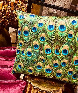Peacock kussen velvet