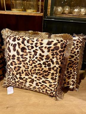 Luipaard Kussen met franje