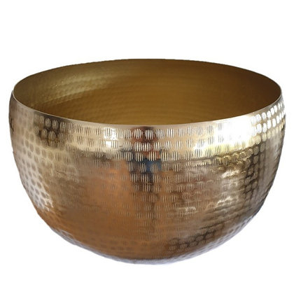 Bowl hammered Gold
