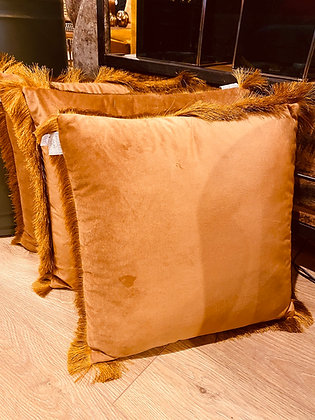 Cushion Velvet Fringe