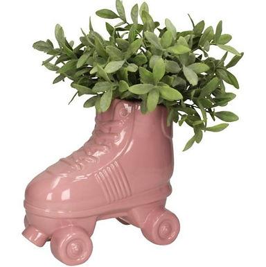 Rollerskates plantenpot Roze