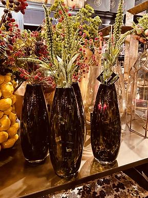 Cheetah teardrop vase
