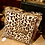 Thumbnail: Luipaard Kussen met franje