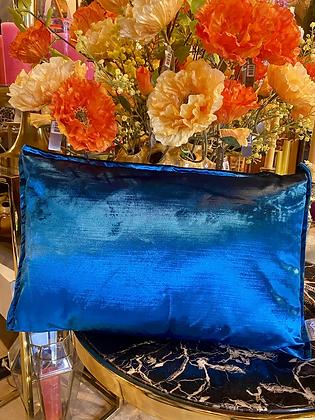 Kussen velvet blauw