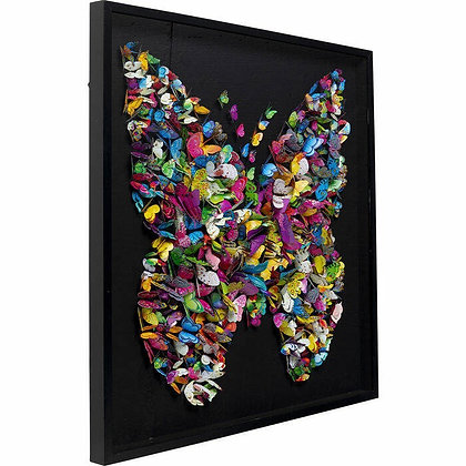 Vlinderschilderij Multicolor Large