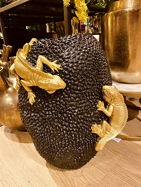 Lizard vaas zwart