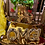 Thumbnail: Skateboard goud kaarsen plateau