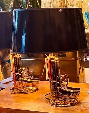 Gun Lamp incl lamp shade oval