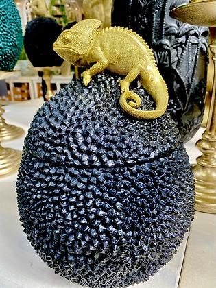 Voorraadpot Kameleon zwart