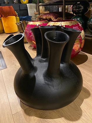 7 Mouth vase XL Black