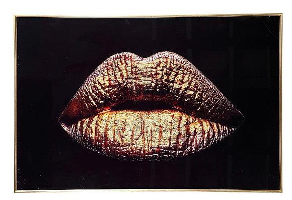 Gold Kiss Glasspainting