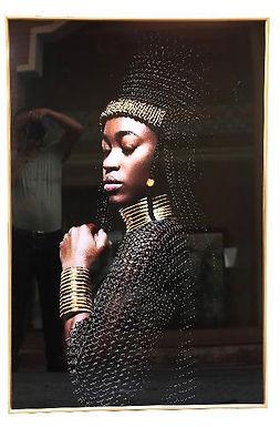 Dark lady warrior glasspainting