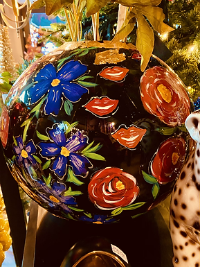 Handpainted Vase large with small mouth