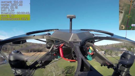 Heavy Lift High Speed Test (17.5lb payload/25lb flying weight/38MPH Top Speed)