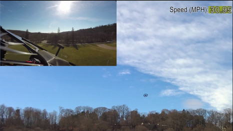 1 Mile Autonomous High Speed 42 MPH Max Speed @ 50 ft alt. with 25MPH Winds