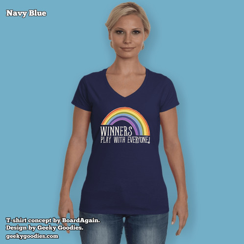 7dffa685 Winners Play With Everyone Women's Fitted V-Neck T-shirt