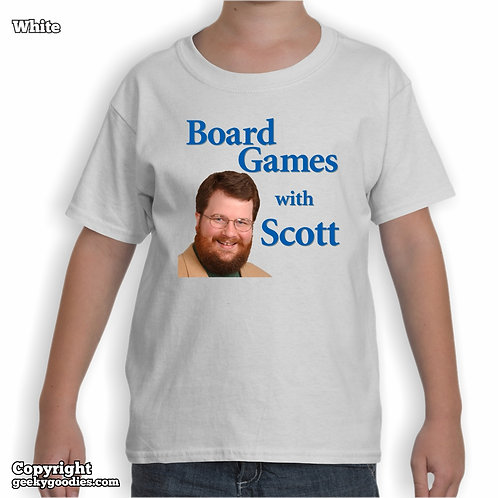 Board Games With Scott Children's White T-shirt