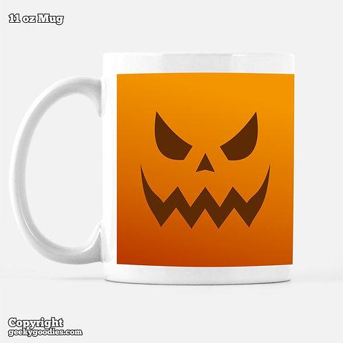 Scary Halloween Pumpkin Coffee Mugs