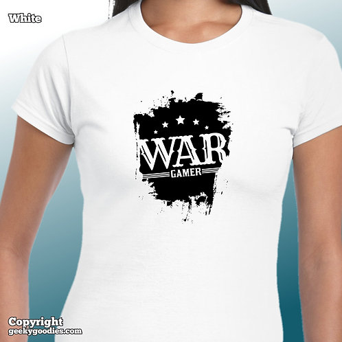 War Gamer Women's FITTED White Shirts