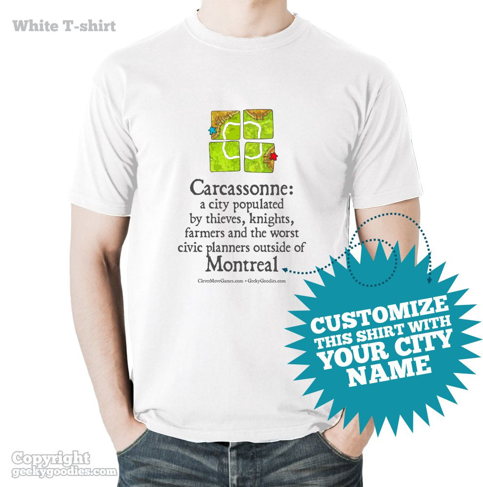 Carcassonne Inspired Tshirt | Geeky Goodies | T-shirts for Board Gamers