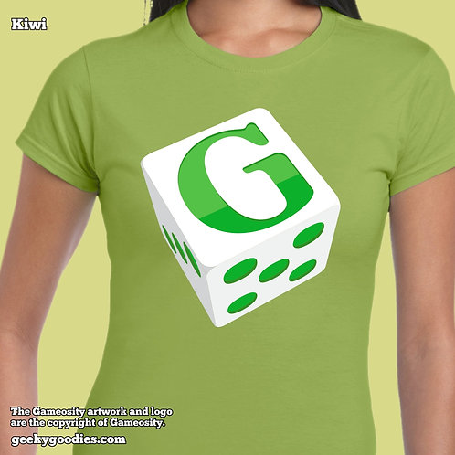 Gameosity Die Ladies FITTED T-shirt
