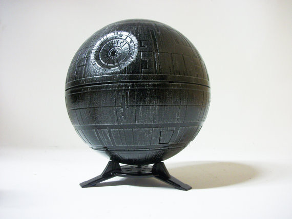 Death Star Planetarium Custom Painted Lamp Star Projector | Geeky Goodies