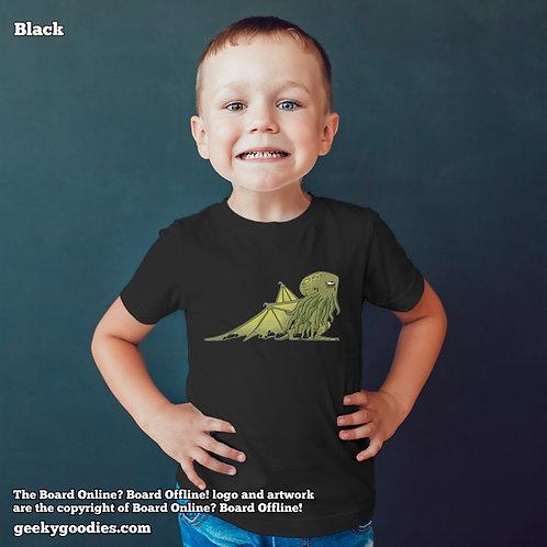 Bored Cthulhu from Bored Online? Board Offline! Children's T-shirt