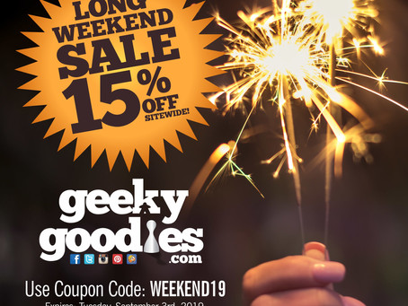 Our LONG WEEKEND SALE starts today!