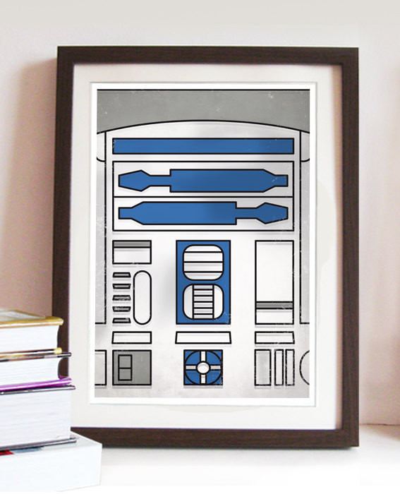 R2-D2 Minimal Print   Geeky Goodies