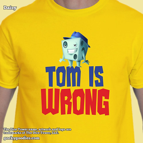 Tom is Wrong Dice Tower Men's/Unisex T-shirt (Light Colors)