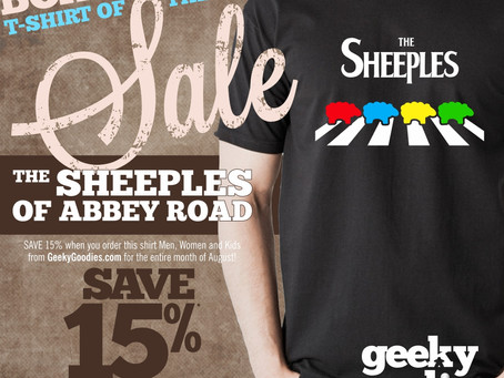 The Sheeples of Abbey Road - Board Game T-shirt of the Month Sale!