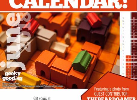 FREE Board Game Calendar for June 2018