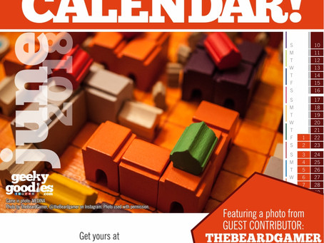 FREE Board Game Calendar for June 2018