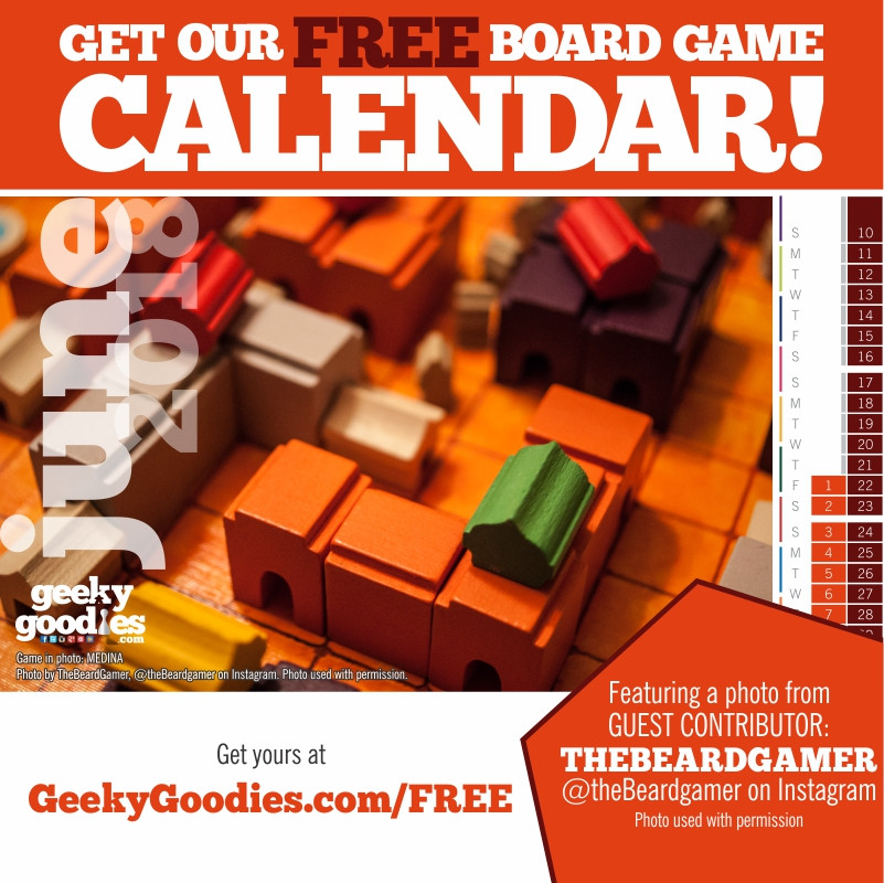 FREE Stuff for Board Gamers | FREE Board Game Calendar | Geeky Goodies | FREE Stuff