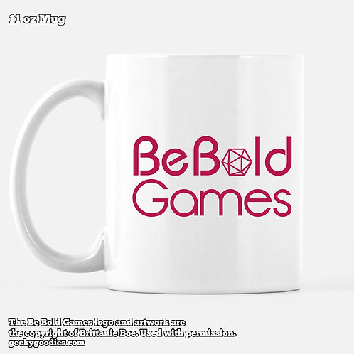 Be Bold Games Pink Logo Mugs for Coffee and Tea