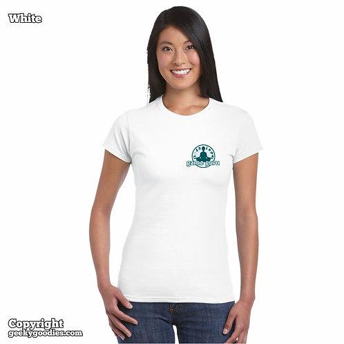 Game Guru Women's FITTED White T-shirts (Small Version)