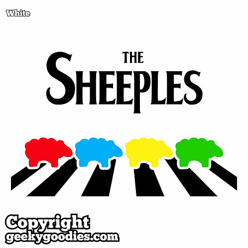 The Sheeples of Abbey Road Women's White T_shirt