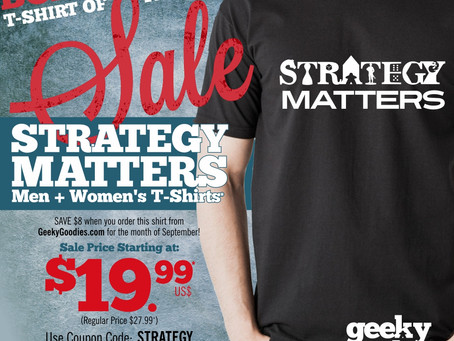 Board Game Shirt of the Month Sale: September 2017 Strategy Matters