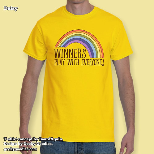 Winners Play With Everyone Men's/Unisex T-shirt (Light Colors)
