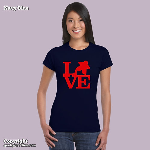 LOVE (Meeple) Women's FITTED T-shirt