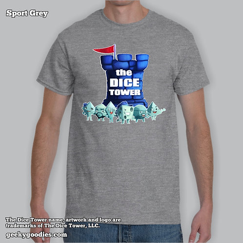 Tall Size Dice Tower Gang Mens/Unisex T-shirt
