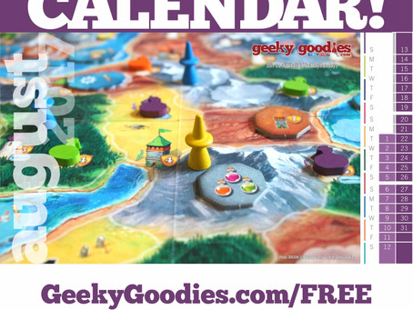 FREE Board Game Calendar for August 2017