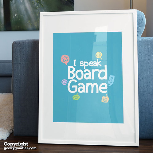I Speak Board Game Poster