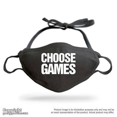 Choose Games Adjustable Cloth Face Mask