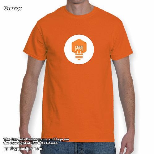 JonGetsGames (White Logo) Mens/Unisex T-shirt