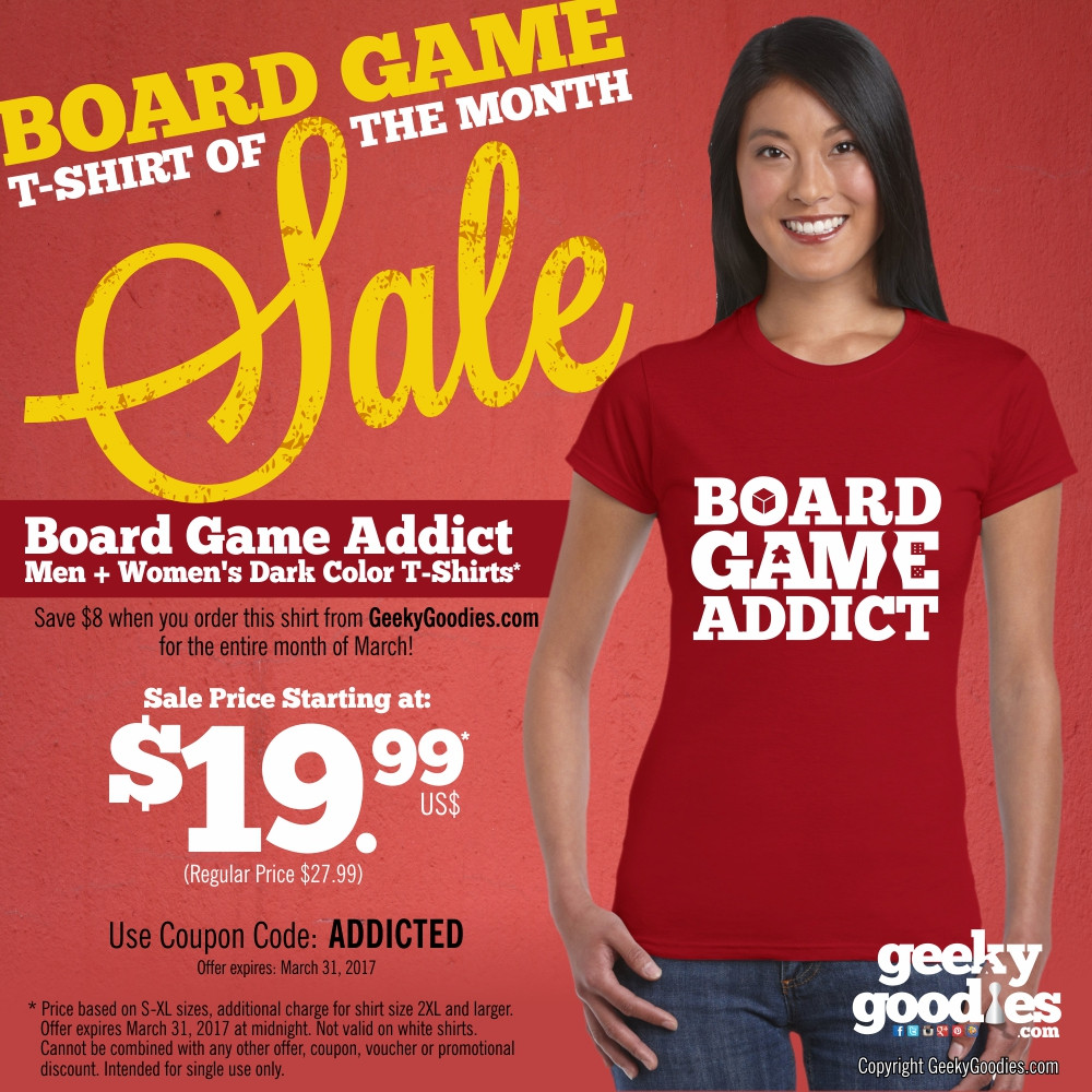 Board Game Shirt of the Month Sale!